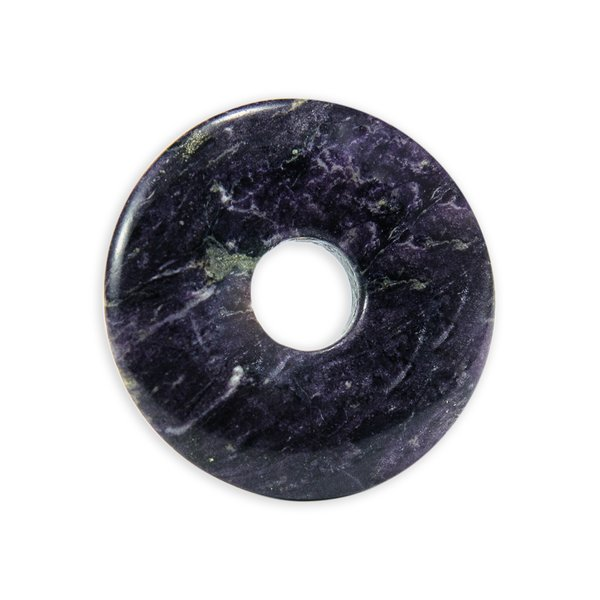Donut Fluorit purple heart (30mm)